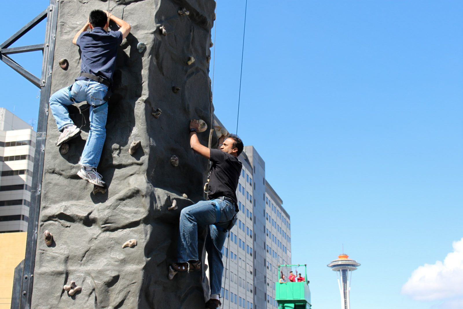 rock climbing wall rental at a company party in Seattle