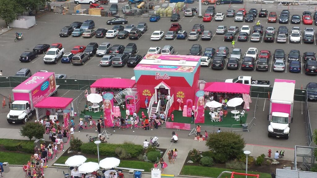 Barbie's House at the Amazon Company Picnic