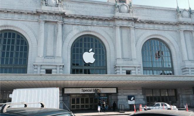venue of Apple marketing event
