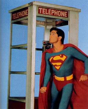Superman and telephone booth