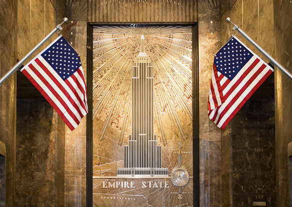 art deco at the Empire State Building