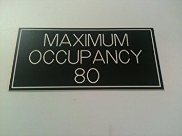 """maximum occupancy"" sign"