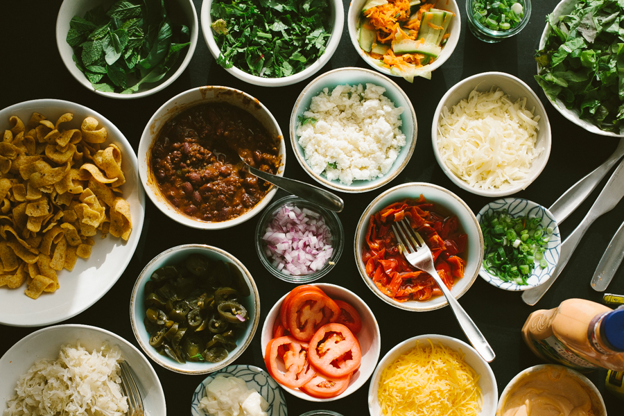 fresh picnic food ingredients