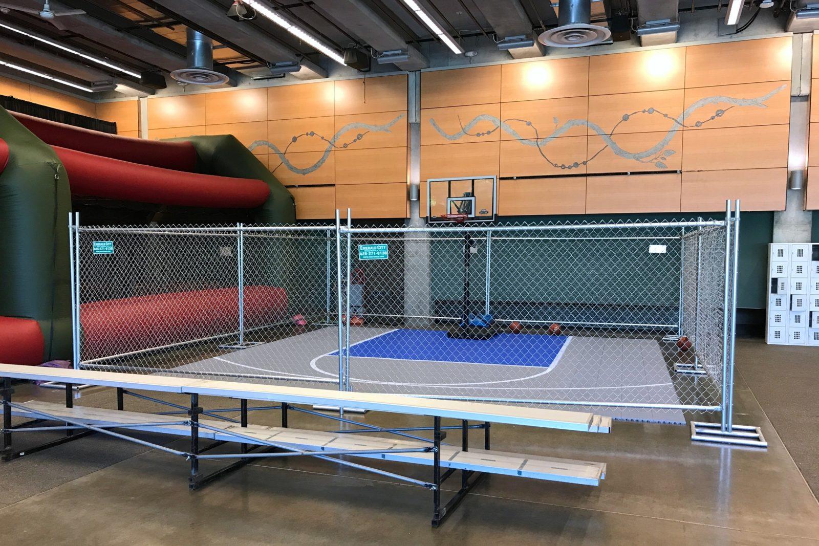 Portable Basketball Court : Portable basketball court rental — national event pros
