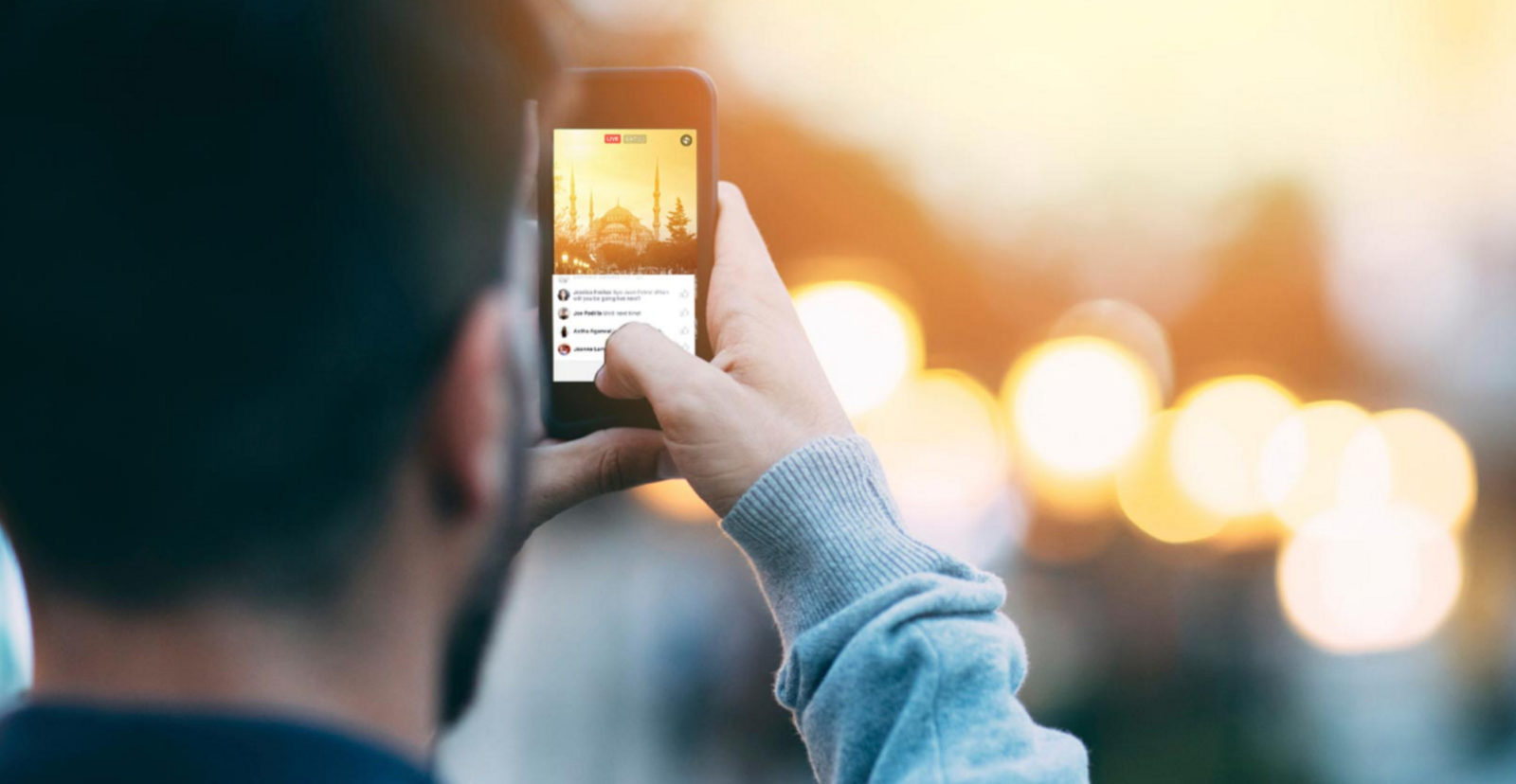 live streaming on social media from a smart phone