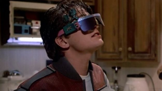 virtual reality glasses in Back to the Future