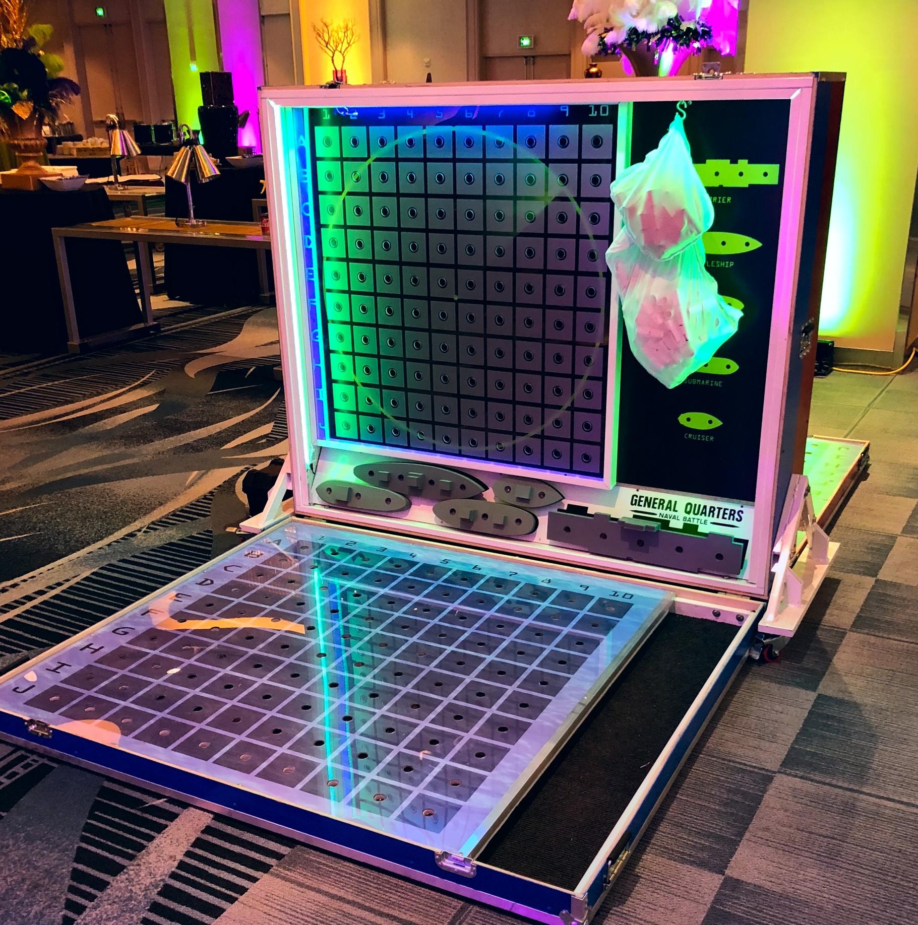 Giant Battleship Board - LED Game Rental — National Event Pros