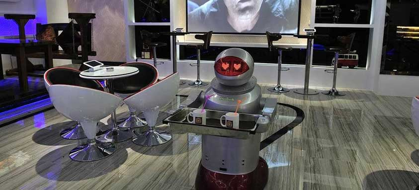 futuristic hotel room service