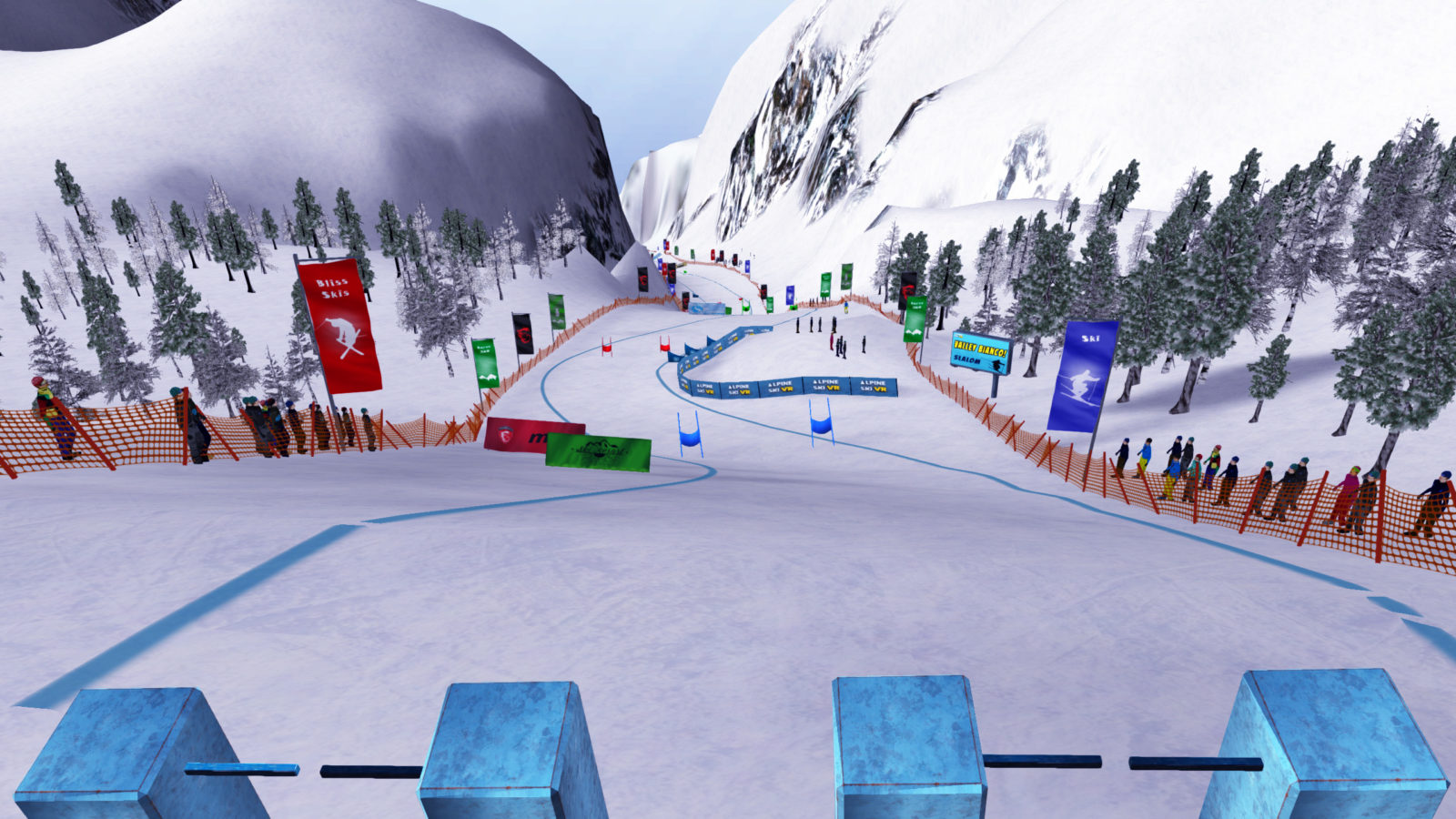 downhill skiing game
