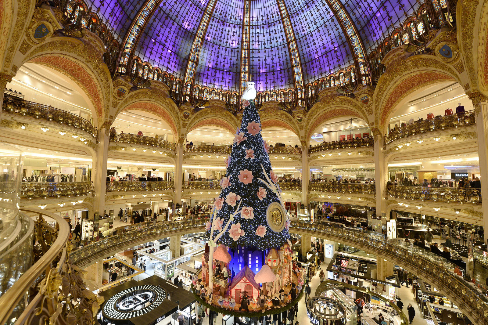 Paris France Christmas Tree