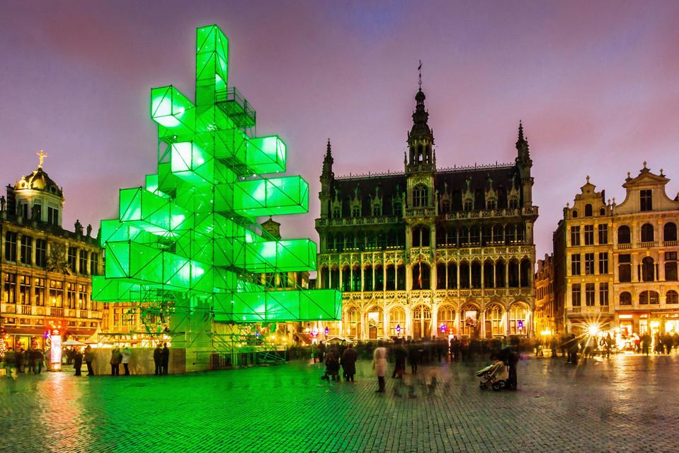Brussels Belgium Christmas Tree