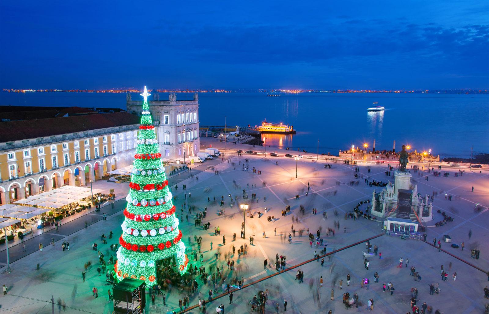 Central Lisbon Portugal Christmas Tree