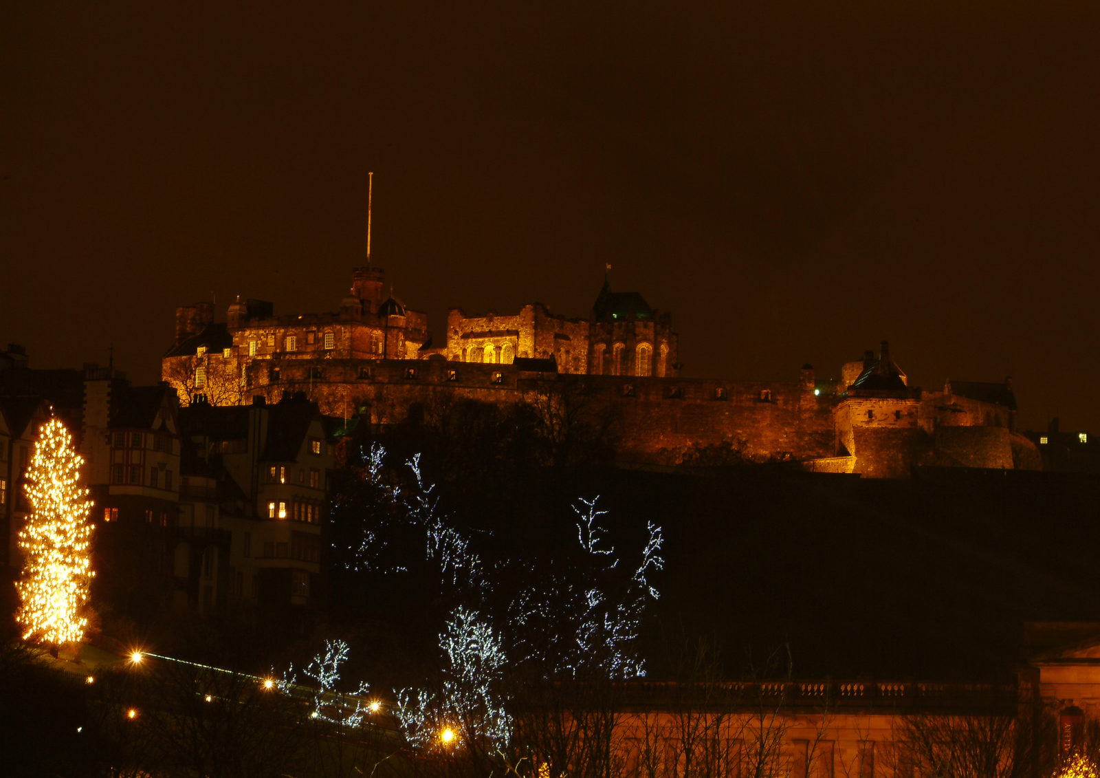 Edinburgh Castle at Christmas Time