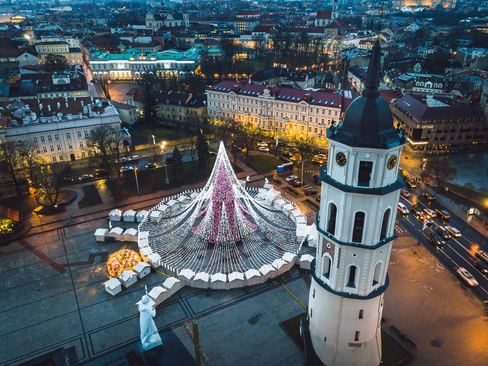 Vilnius Lithuania Christmas Tree