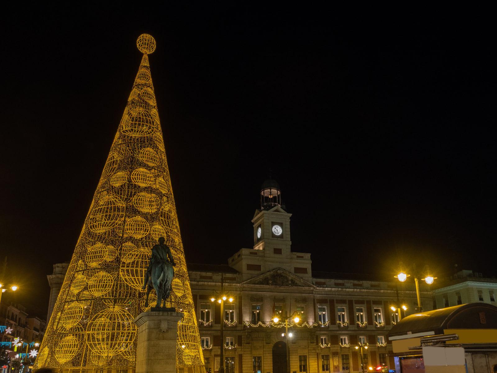 Madrid Spain Christmas Tree