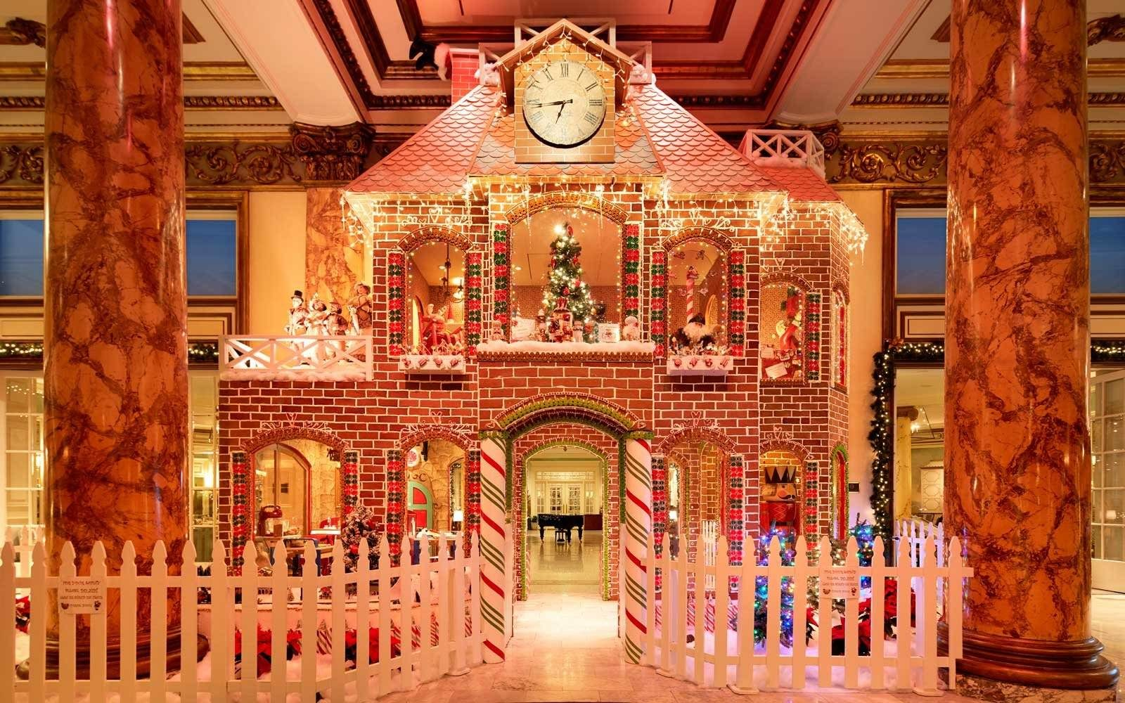 Two Story Gingerbread Mansion