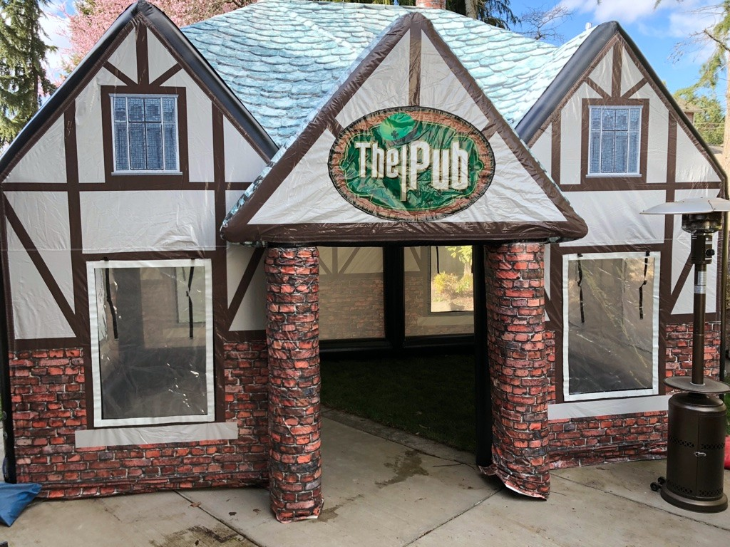 inflatable irish pub rental