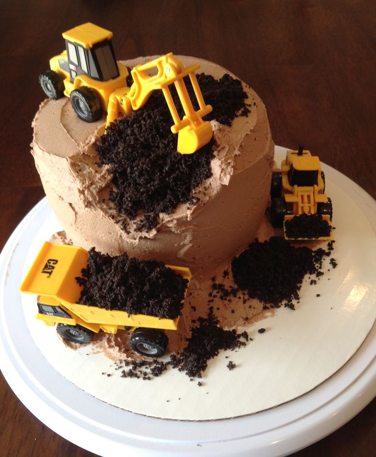 Construction Site themed cake