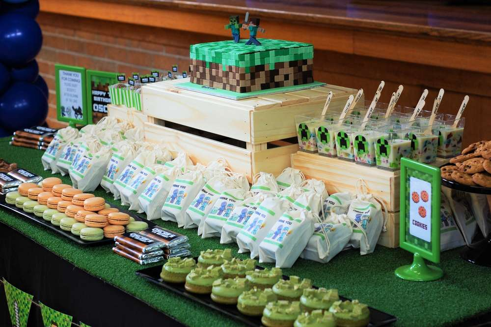 Minecraft themed food