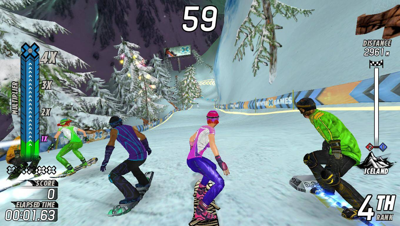 snowboarder video game
