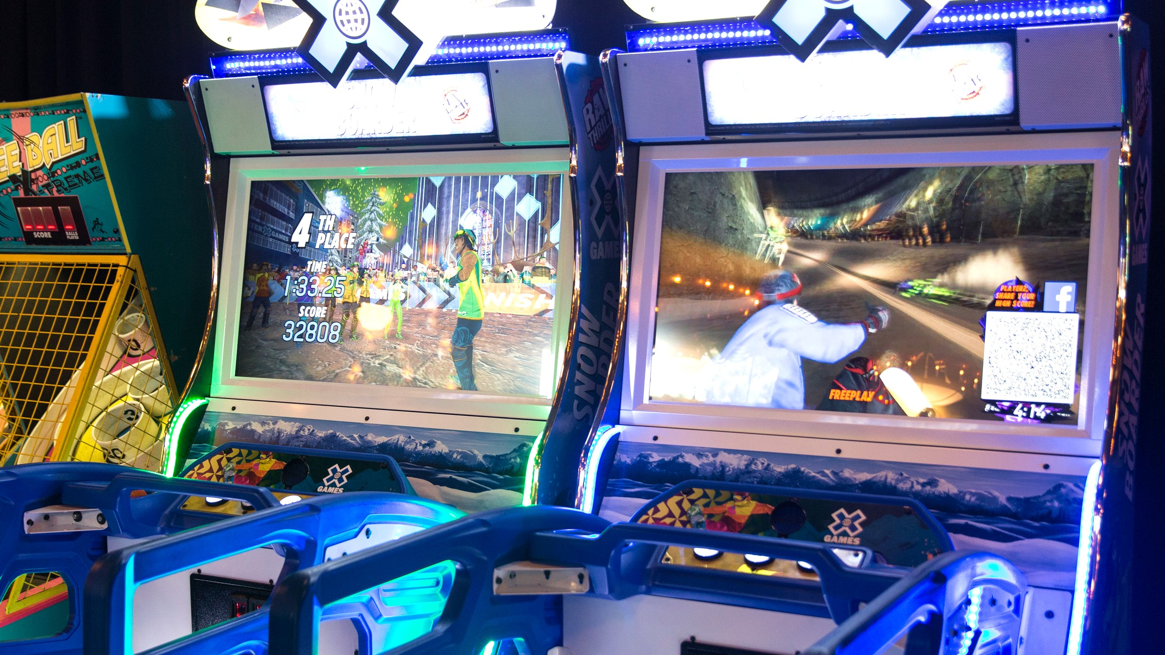 Raw Thrills X Games Snowboarding Arcade Game Rental