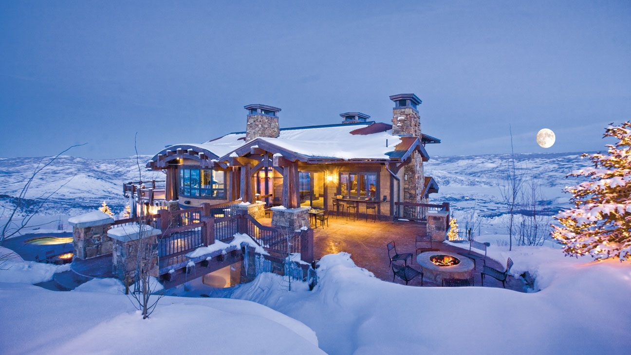 luxury snow day cabin
