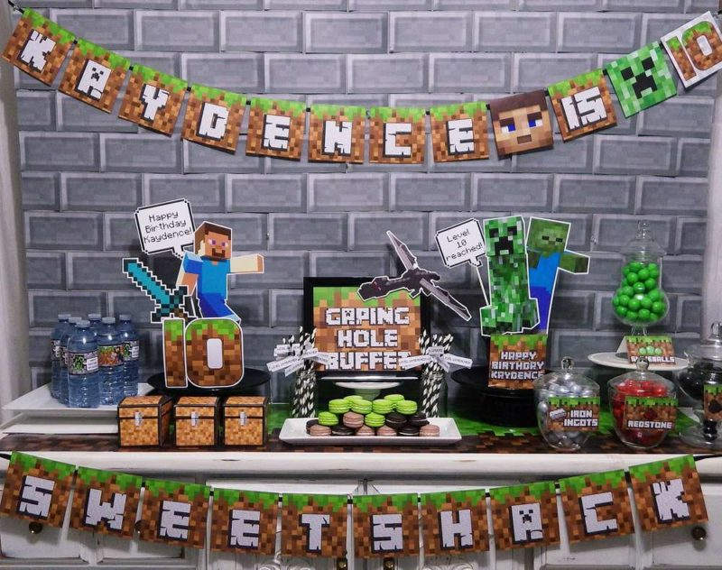 Minecraft themed catering