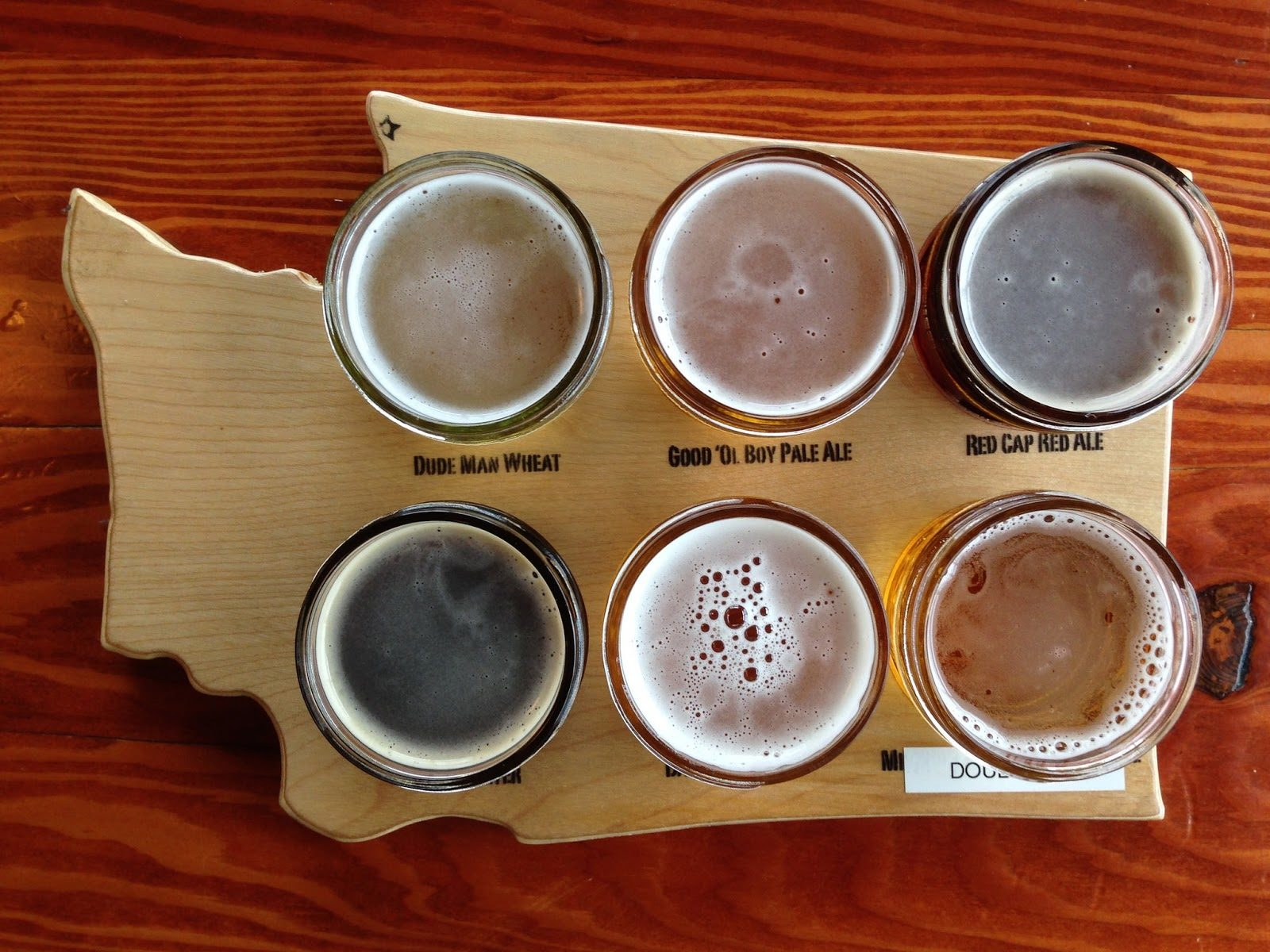 Washington beer flight