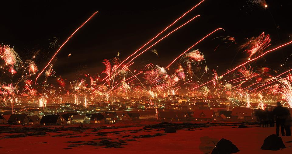 Fireworks in Bahamas
