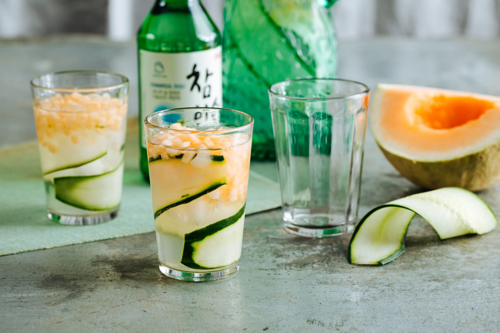 soju Mellon cocktails