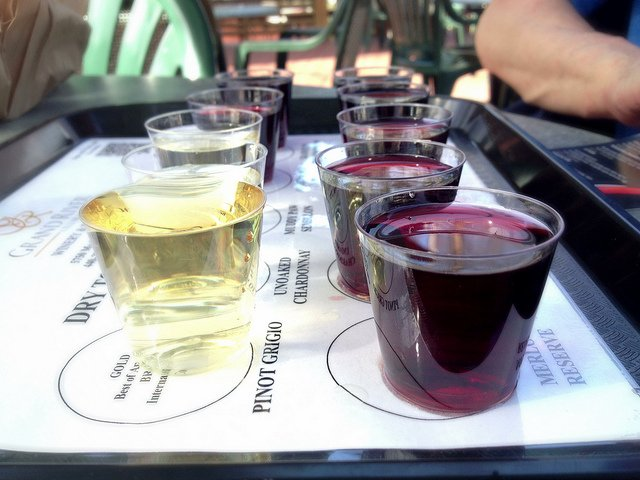wine tasting flight