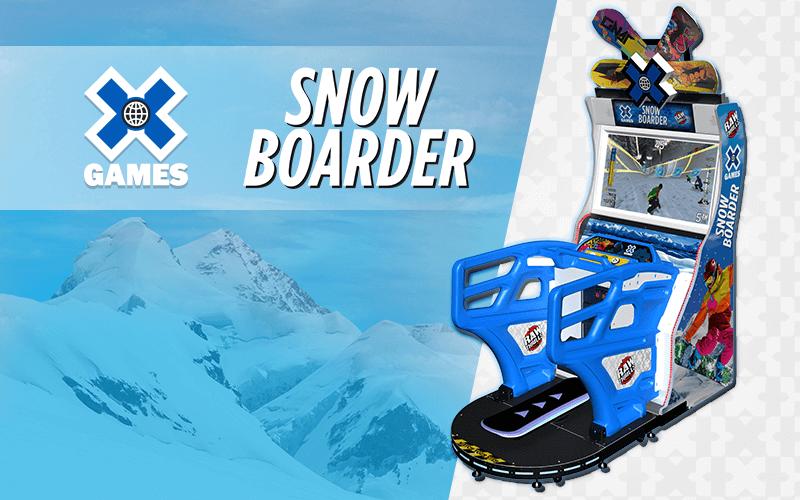 snowboarder arcade game