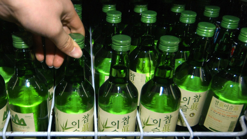 Korean soju display
