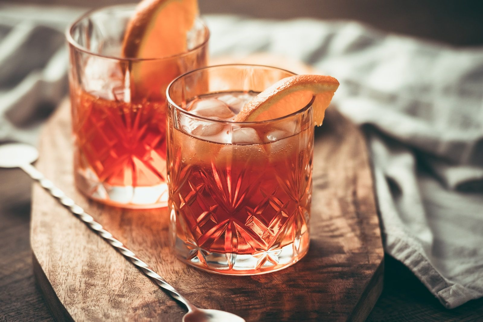pink cocktail glasses