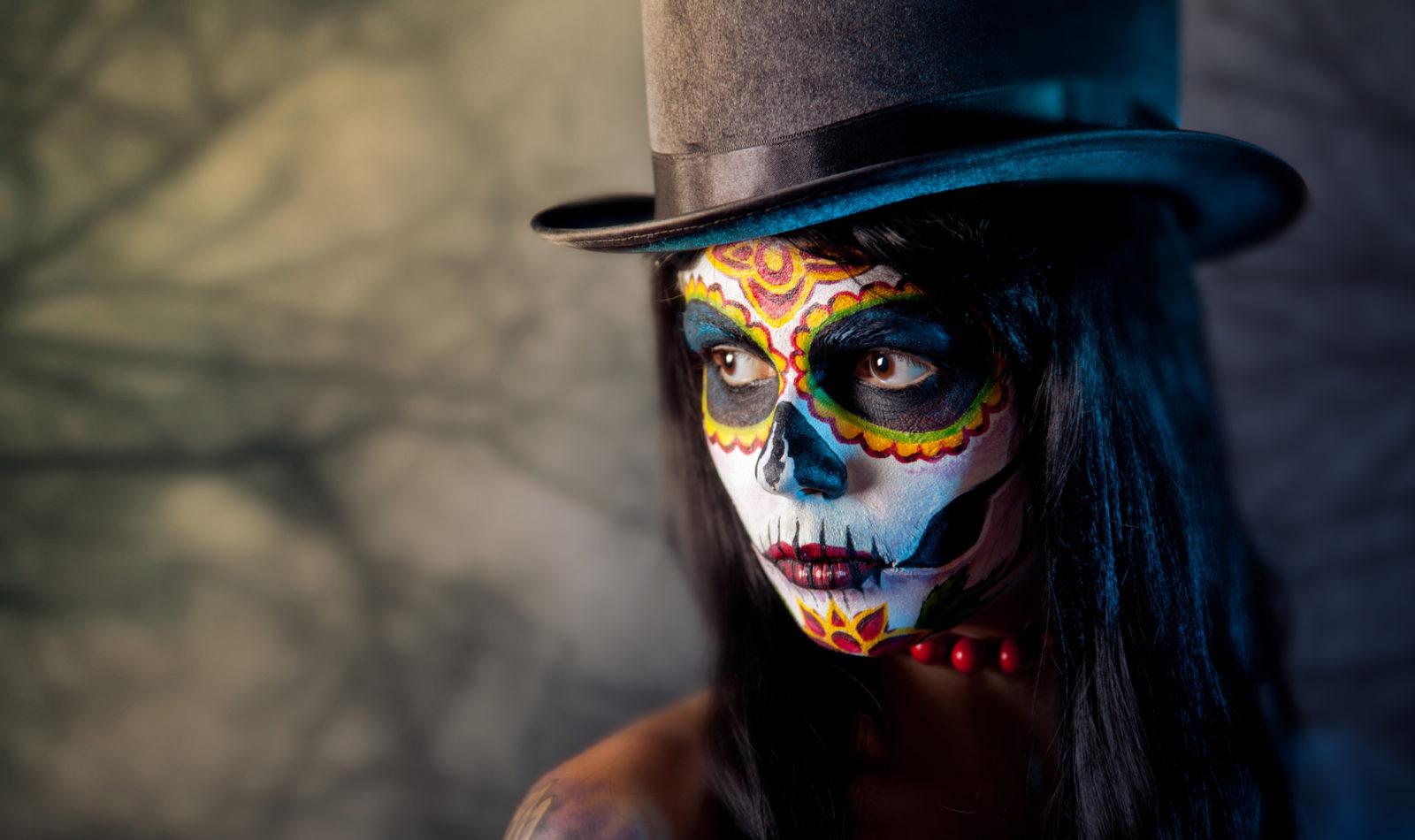 Halloween Makeup Model