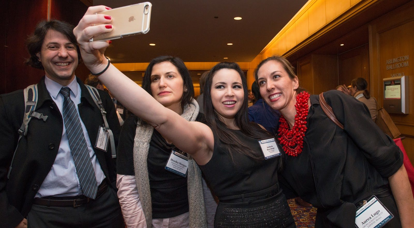 group selfie at a professional networking event