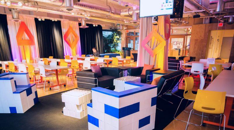corporate event block decor