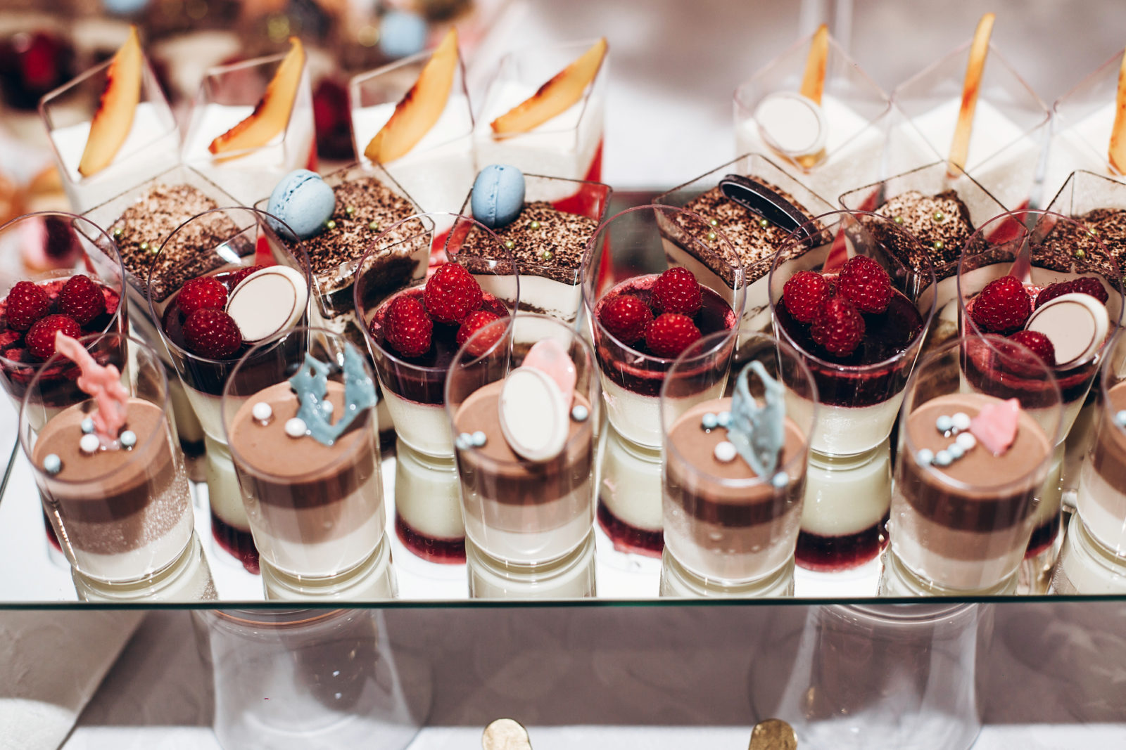 parfaits on tray