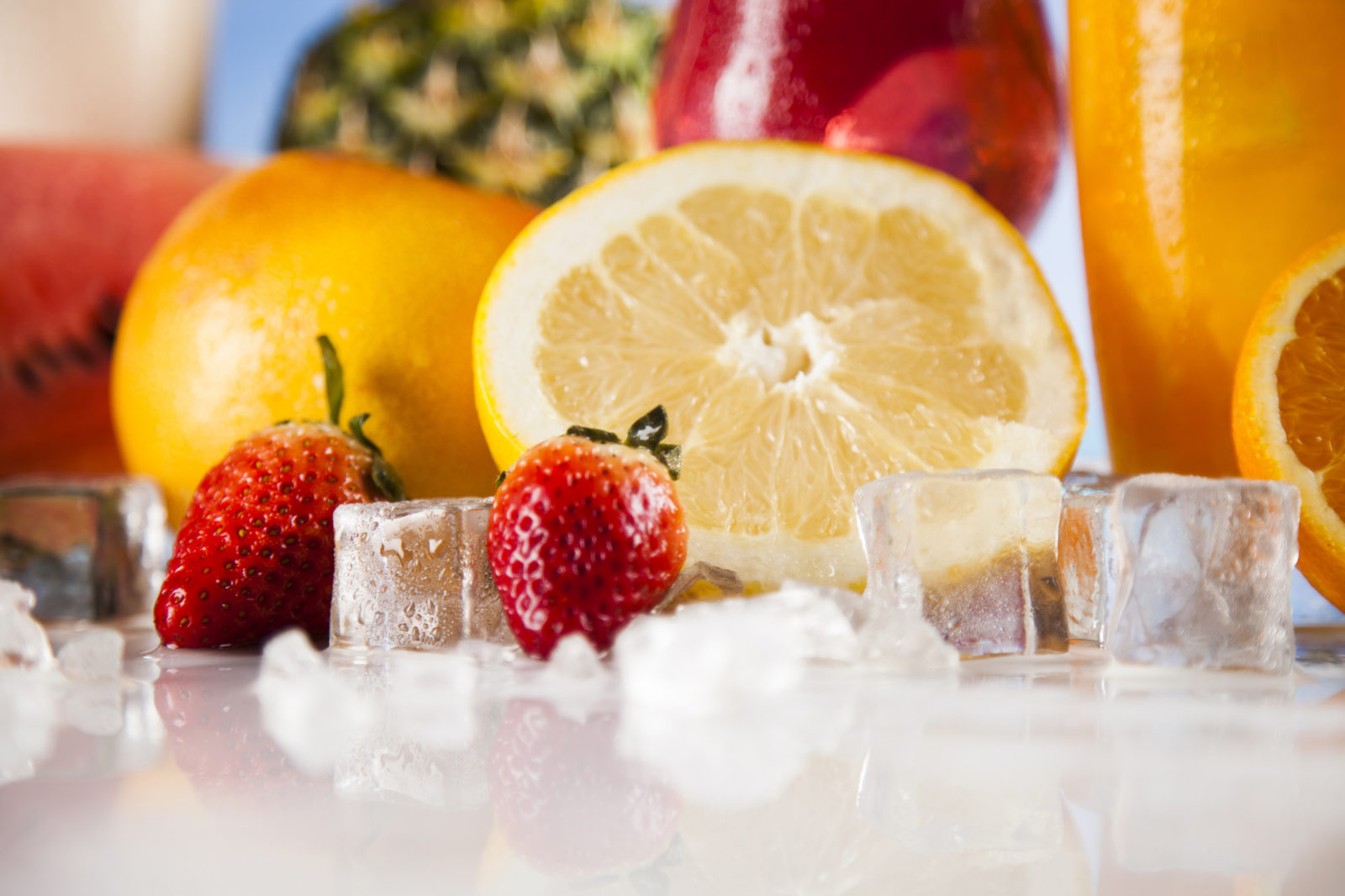 fruit and ice