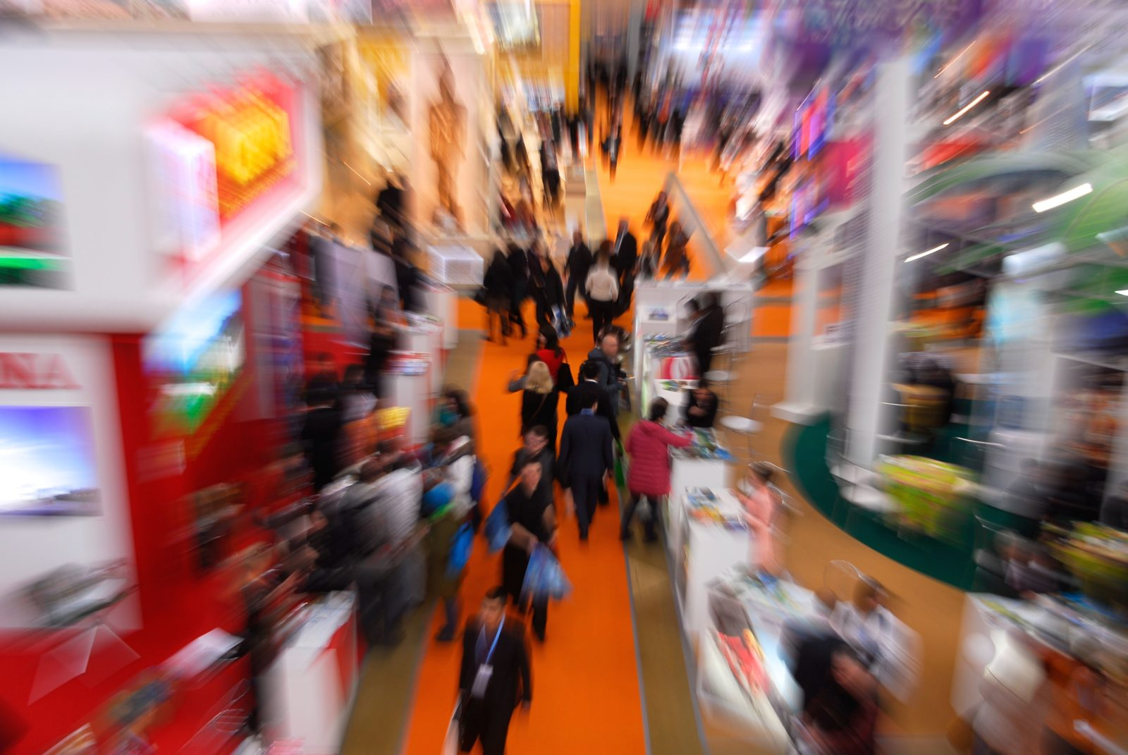 blurred tradeshow picture