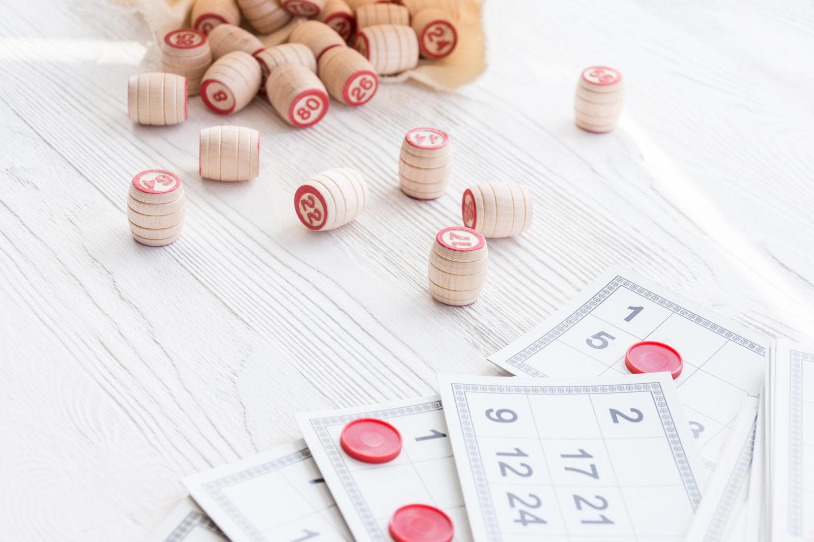 spilled bingo markers