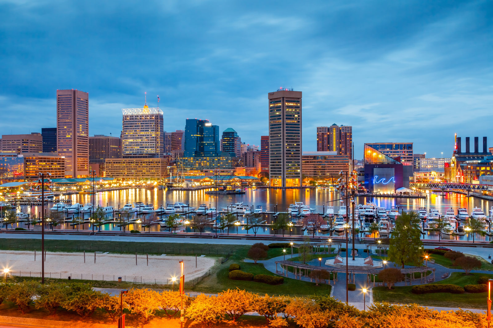 Baltimore Maryland cityscape