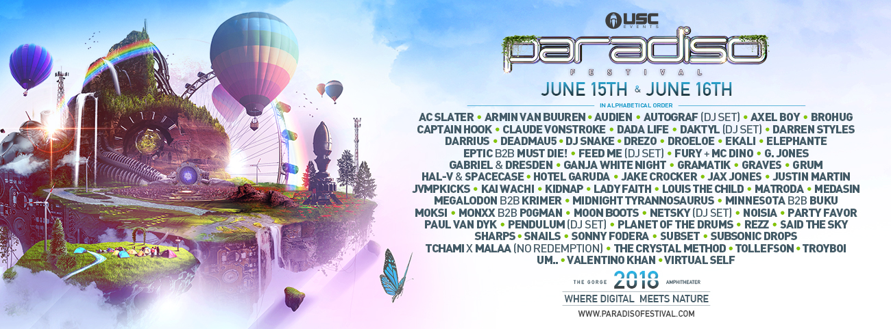 Paradiso Music Festival Lineup