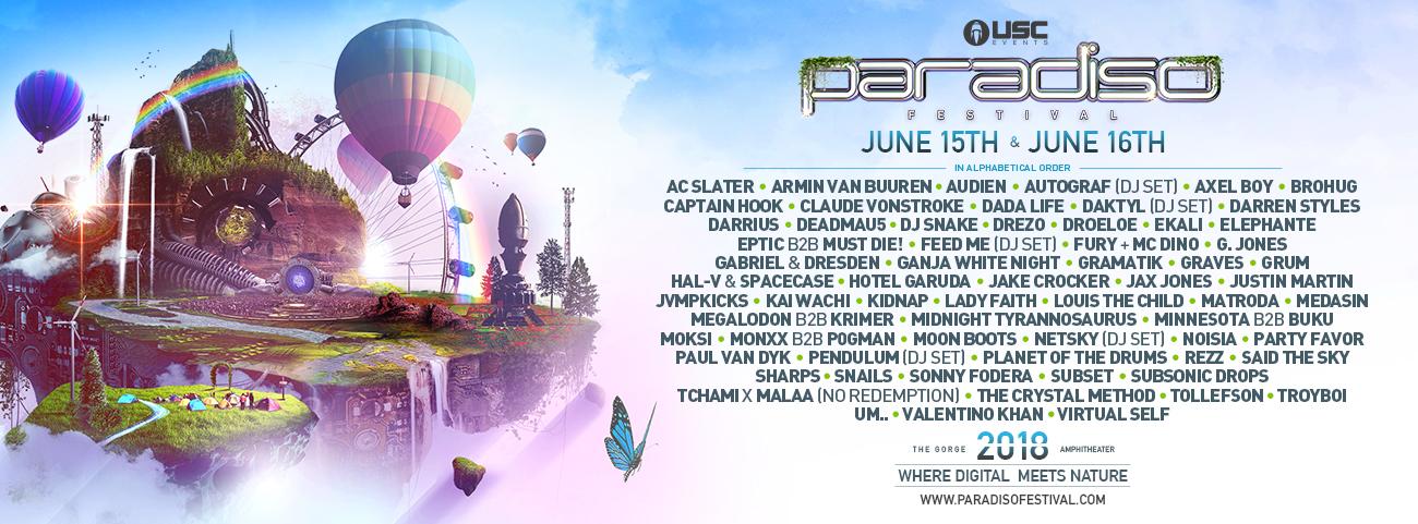 Paradiso Music Festival Lineup