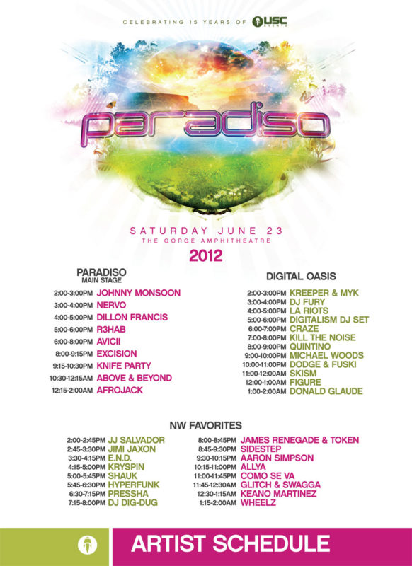 Paradiso Music Festival 2012 Lineup