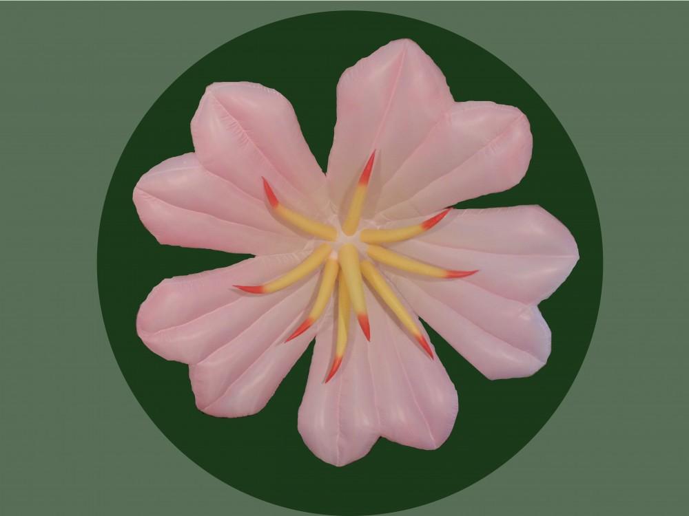 pink daisy sculpture