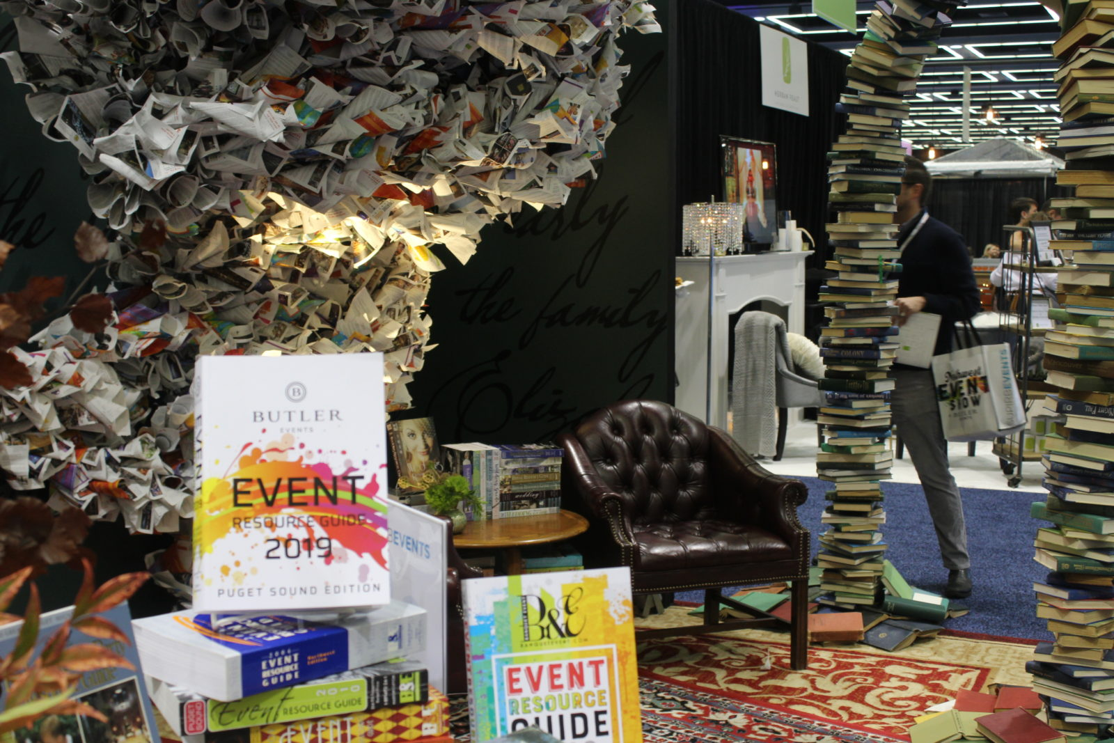 book themed booth