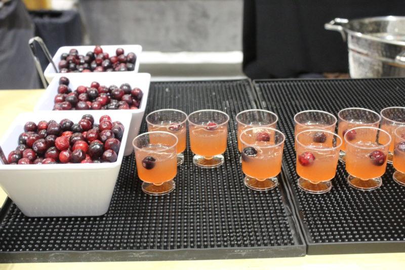 mini cocktail display