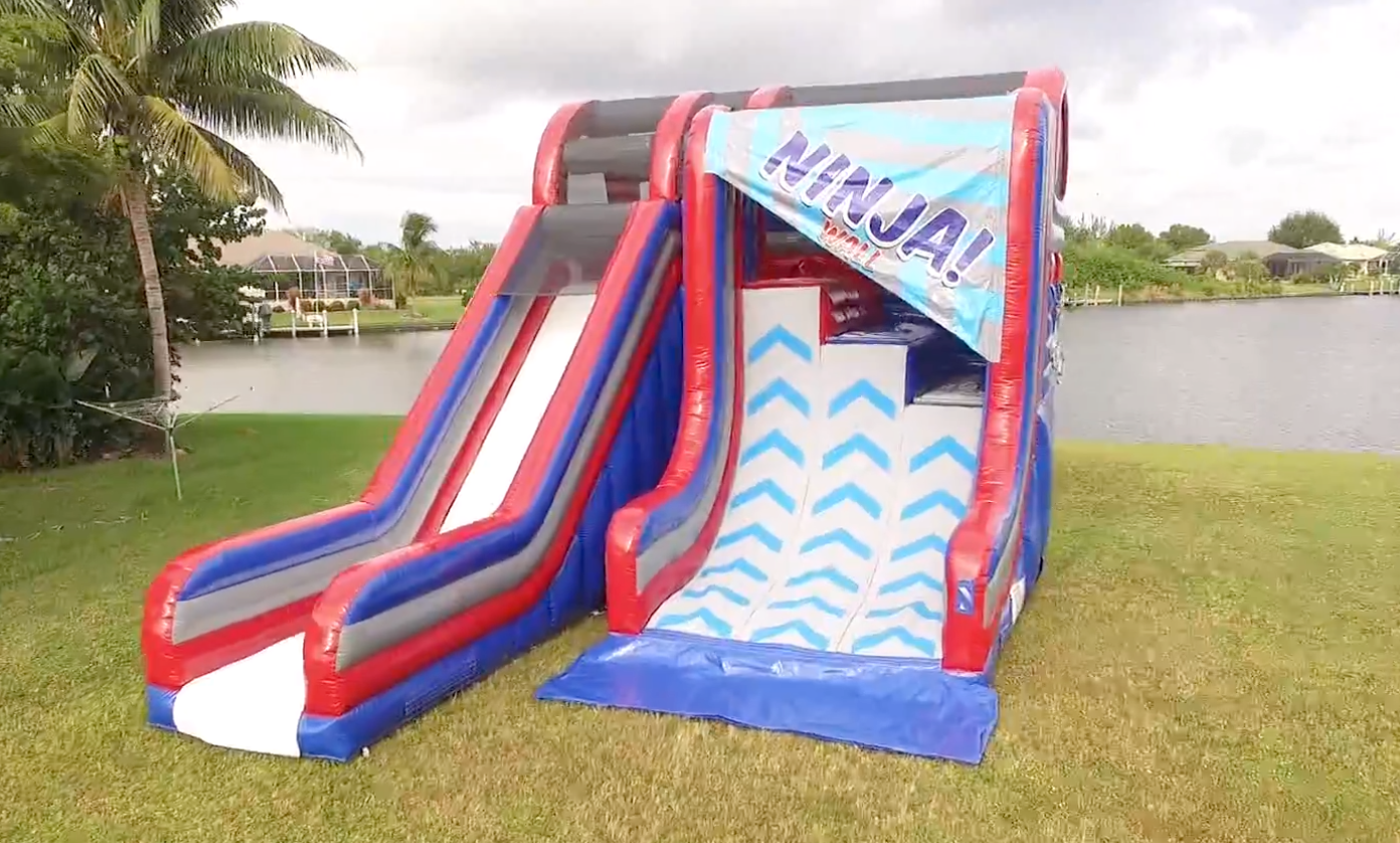 Inflatable Warped Wall