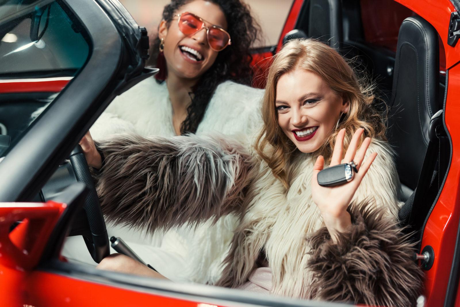fancy girls driving